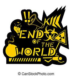 slutning, verden