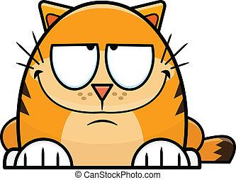 Sly Looking Cartoon Orange Cat