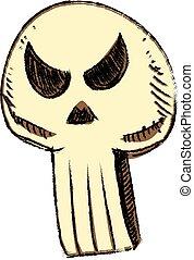 Sly skull isolated on white