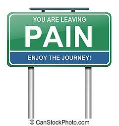 smärta, concept.