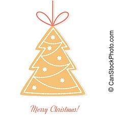 småkage ingefærkage, træ christmas