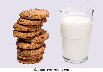 småkakor, mjölk