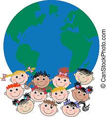 smíšený etnický, děti