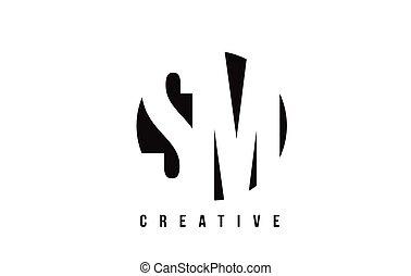 sm, m, arrière-plan., s, conception, lettre, logo, cercle...