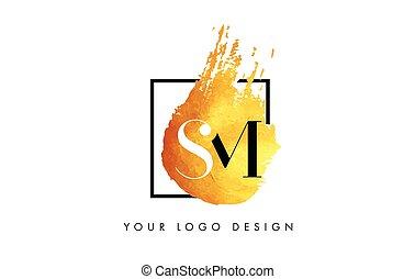 sm, pourpre, concept., éclaboussure, brosse, lettre, logo,...