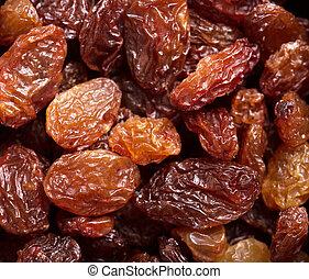 smakelijk, raisins, als, abstract, achtergrond, texture.
