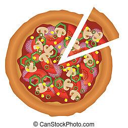 smaklig, pizza