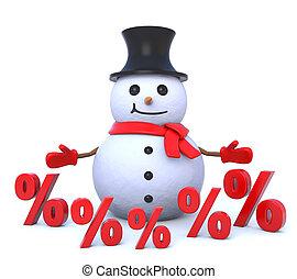 small 3d snowman