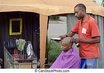 Small African Haircut Barber Business - Energy efficient ...