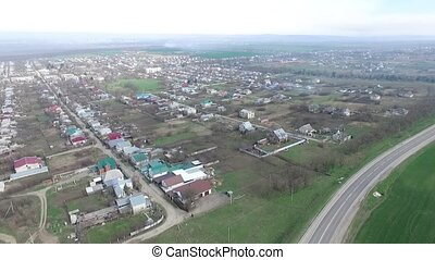 Small agrarian city, Russia. - Small agrarian city with...