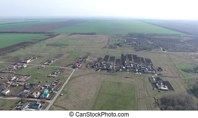 Small agrarian city, Stavropol Krai. - Small agrarian city...