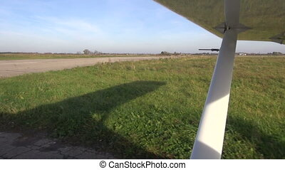 aircraft on airfield - small aircraft on airfield