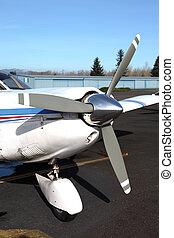 Small aircraft propeller.
