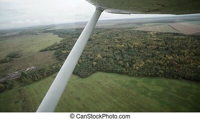 Small aircraft - view from cabin shot