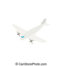 Small airplane icon, isometric 3d style