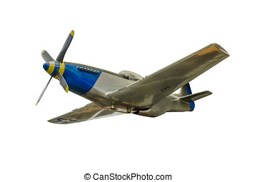 Small airplane isolated on white background with clipping path.