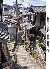 Small alley stairs