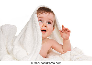 Small amazing child in the baby blanket - Small amazing...