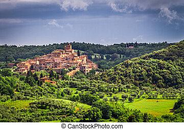Small ancient city in Tuscany, Italy