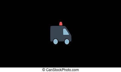 Small Animated Ambulance