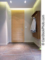Interior of small anteroom in detached house