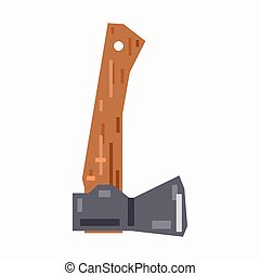 Small axe, pixel flat design
