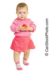 Small baby with apple