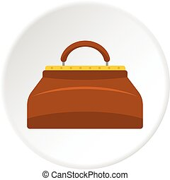 Small bag icon circle