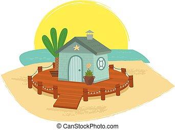 Beach House Illustrations And Clipart 3696 Beach House Royalty