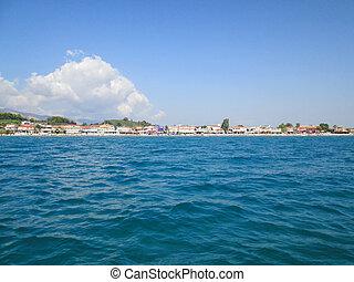 Small beachside town