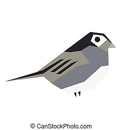 small bird flat illustration