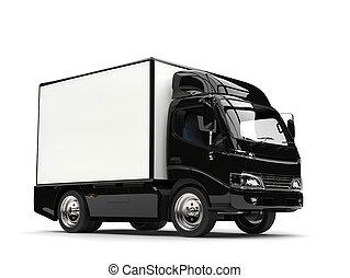 Small black box truck