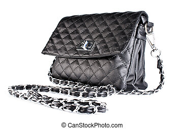 Small black quilted bag ladies