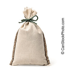 Small blank linen fabric bag
