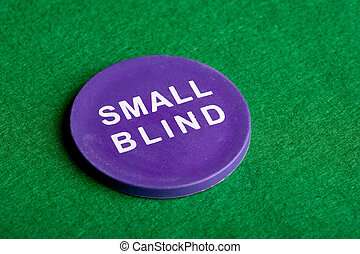Small Blind - A small blind chip viewed from an angle