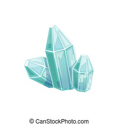 Small Blue Crystal Gem, Hidden Treasure And Riches For Reward In Flash Came Design Variation