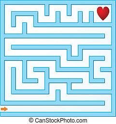 Small blue maze