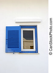 Small blue window