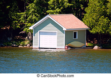 Small boathouse