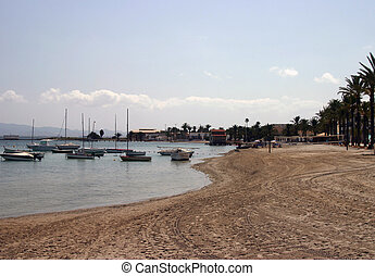 boats at the beach