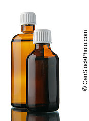 Small bottles with drug
