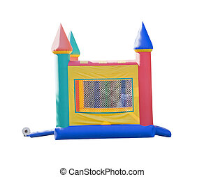 small bounce castle - small castle shaped bounce house...