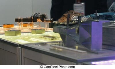 Small breadboard structures on the industrial exposition....