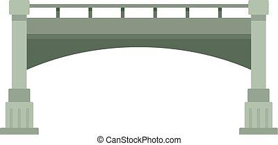 Small bridge icon, flat style