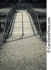 Small Bridge in Black and White