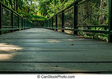 Small bridge in garden