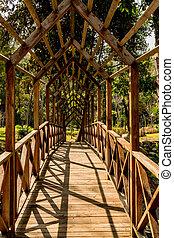Small bridge in park