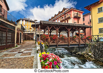 small bridge in Pontedilegno