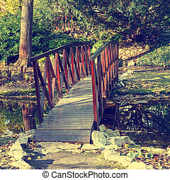 small bridge in the park