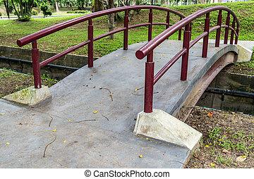 Small bridge in the park